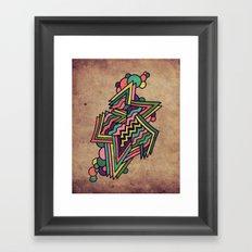 Neon Grit Framed Art Print