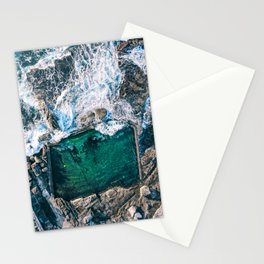 Ocean Waves Rock Pool Stationery Cards