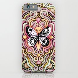 Yin Yang Butterfly iPhone Case