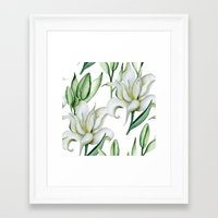 lily Framed Art Prints featuring Lily by Julia Badeeva