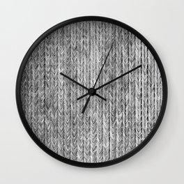 Ink Weaves: Grey Opal Wall Clock