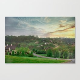 Summer Sunset Landscape Canvas Print