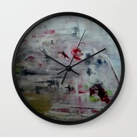 imagerybydianna Wall Clocks featuring orchid mist by Imagery by dianna