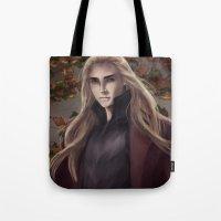 thranduil Tote Bags featuring Thranduil by Hanna Nordin