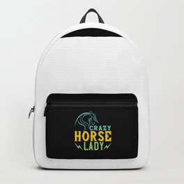 Horse - Crazy Horse Lady Backpack