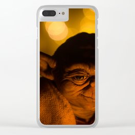 Thoughtful Yoda Clear iPhone Case