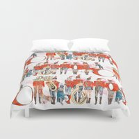 band Duvet Covers featuring Marching Band by Lara Lee Meintjes