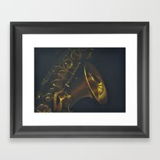 Paula's Saxophone Framed Art Print