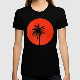 the palm tree with sunset T-shirt
