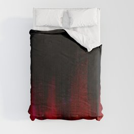 Red and Black Abstract Comforters