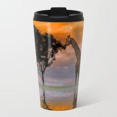 Giraffe at Sunset Travel Mug
