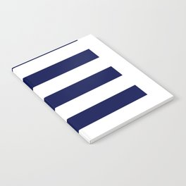 navy stripes Notebook