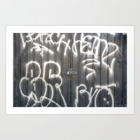 No peeking - Graffiti texture  Art Print