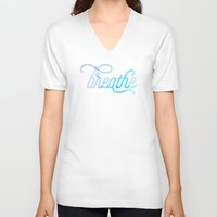breathe V-neck T-shirts featuring Breathe by Noonday Design