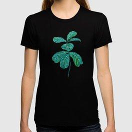 fiddle leaf fig watercolor T-shirt