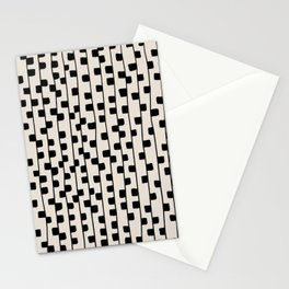 Squares / Black & White Pattern Stationery Cards