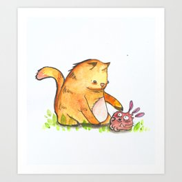 Dont Touch Me!! Art Print
