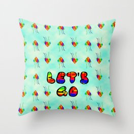 Kites and Clouds Throw Pillow