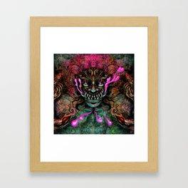 Japanese Dragon Mask Framed Art Print