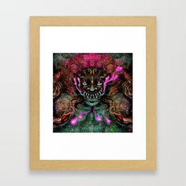 Japanese Dragon Mask Framed Art Print
