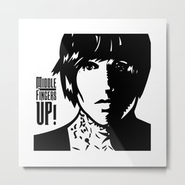 Middle Fingers Up Metal Print