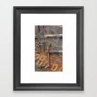 Rusty Stuff Montage Framed Art Print