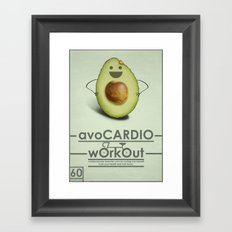 avoCARDIO workout Framed Art Print