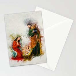 Jesus Is Born Stationery Cards