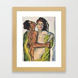 """Koloman (Kolo) Moser """"Lovers"""" Framed Art Print"""