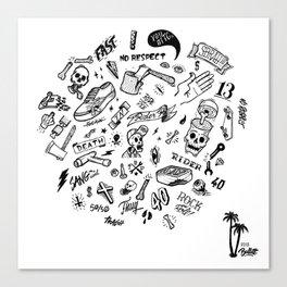 Rider Pattern Canvas Print