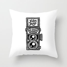 Analog Film Camera Medium Format Photography Shooter Throw Pillow