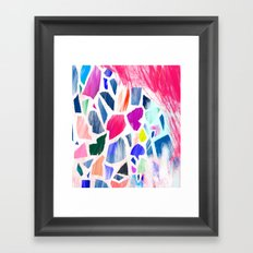 Pink Terrazzo Framed Art Print