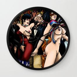 VLADRUSHKA - A Summer Night at the World Eaters Club: Print 1 Color Edition Wall Clock