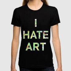 I HATE ART Womens Fitted Tee Black MEDIUM
