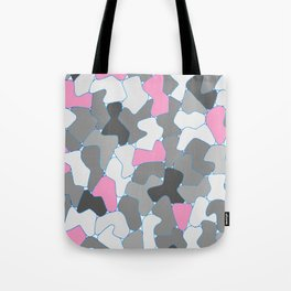 Stone Wall Drawing #2 Pink Tote Bag