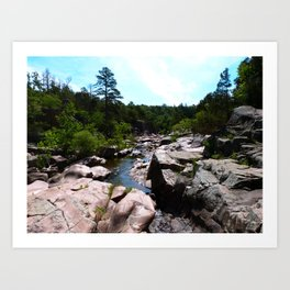 Castor River Shut Ins Art Print