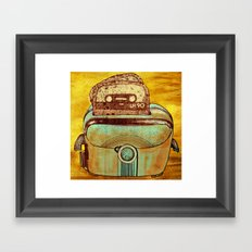 toasted tapes Framed Art Print