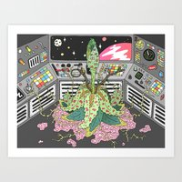 sci fi Art Prints featuring sci fi by james clapham