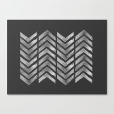 STAMPS SERIES N3 HERRINGBONE BLACK Canvas Print