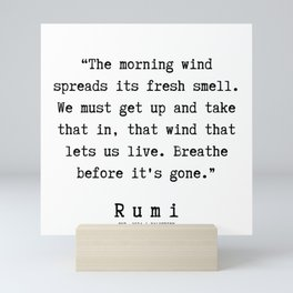 89  | Rumi Quotes | 190221 Mini Art Print