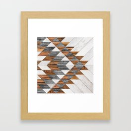 Urban Tribal Pattern 12 - Aztec - Wood Framed Art Print
