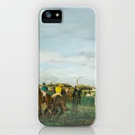 The Races (ca. 1871–1872) painting in high resolution by Edgar Degas iPhone Case