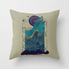 Northern Nightsky Throw Pillow