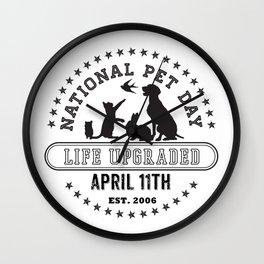 National Pet Day Wall Clock