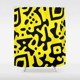 QR Clothes Yellow - Accessories Shower Curtain