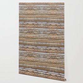 Wood Effects Raw Wood Log Cabin Lodge Rustic Wallpaper