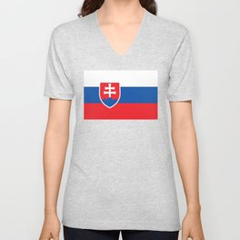 Slovakian Flag - High Quality Image Unisex V-Neck