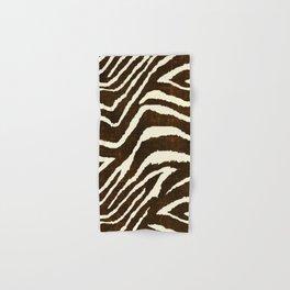 Animal Print Zebra in Winter Brown and Beige Hand & Bath Towel