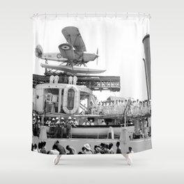Arrival of the Negus to Haifa 1936 Shower Curtain