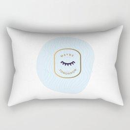 I'd rather sleep Rectangular Pillow